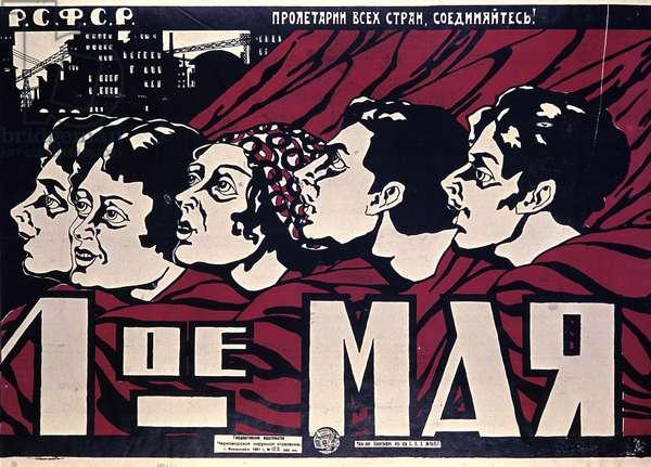 !st of May' Poster, Novorossiysk, 1921 (litho)