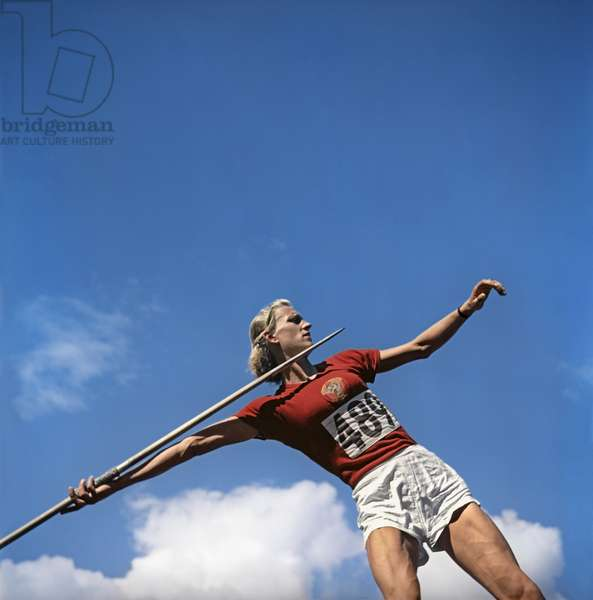 The XV Summer Olympic Games (July 1- August 3, 1952) in Helsinki, Finland, Alexandra Chudina took 2nd place in the javelin athletics competition, Anatoliy Garanin/Sputnik (photo)