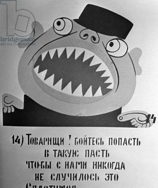 Okna Rosta, Windows of the Russian Telegraph Agency. Poster, Drawing and Text (litho)