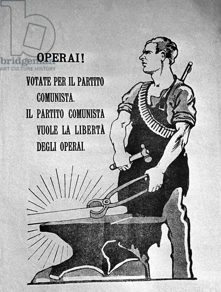 Poster 'Workers, Vote For the Communist Party' Issued In 192 (litho)