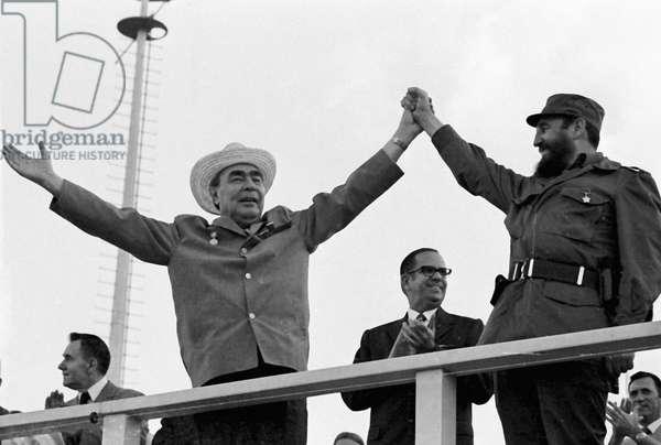 Leonid Brezhnev, General Secretary of the Soviet Communist Party's Central Committee, Fidel Castro Rus, First Secretary of the Cuban Communist Party's Central Committee and Prime Minister of the Revolutionary Governmen (photo)