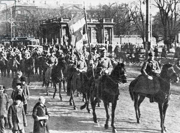 Workers' and Peasants' Red Army's 1st Cavalry of the 1st Cavalry Corps , 1919 (b/w photo)
