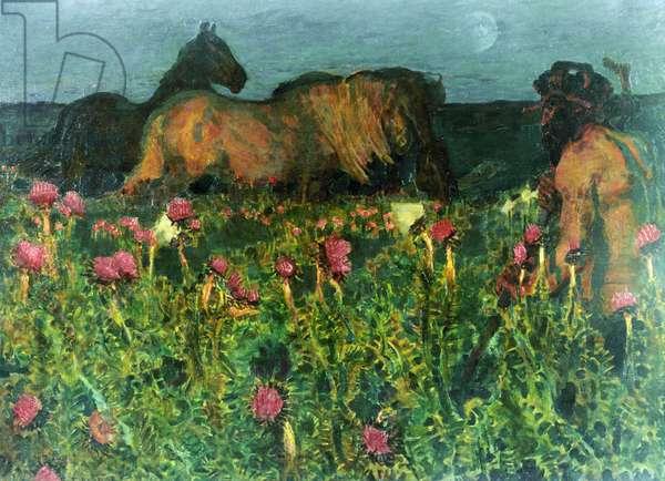 The Dusk (oil on canvas)