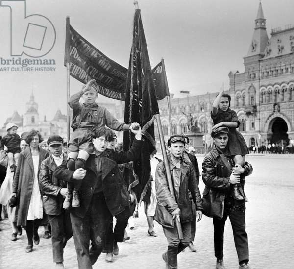 International Youth Day , 1920 (b/w photo)