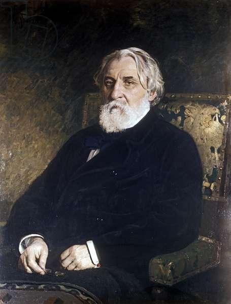 Portrait of Ivan Sergeevich Turgenev (1818-83) (oil on canvas)