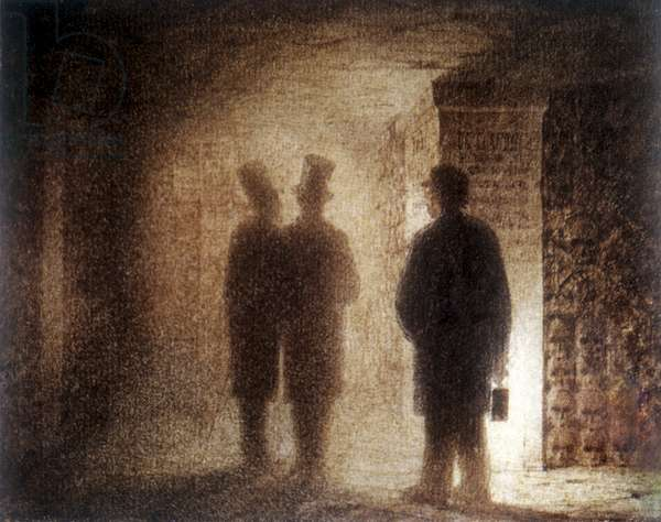 "Paris Catacombs, one of the ""Pictures at an Exhibition"" (w/c on paper)"