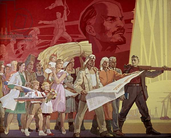 Builders of Communism' Poster (litho)