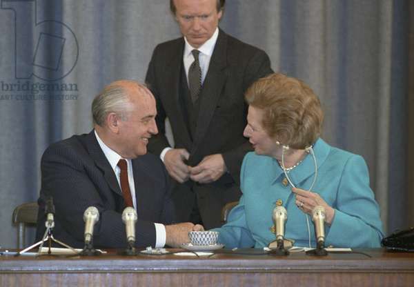 USSR President Mikhail Gorbachev and British Prime Minister Margaret Thatcher, Moscow 1991 (photo)