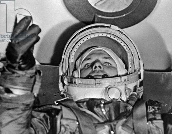 Cosmonaut Yuri Gagarin before flying into space, RIA Novosti/Sputnik (photo)