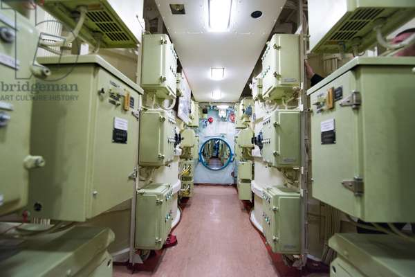 The missile bay aboard the K-535 Yuri Dolgoruky nuclear submarine, 2019 (photo)
