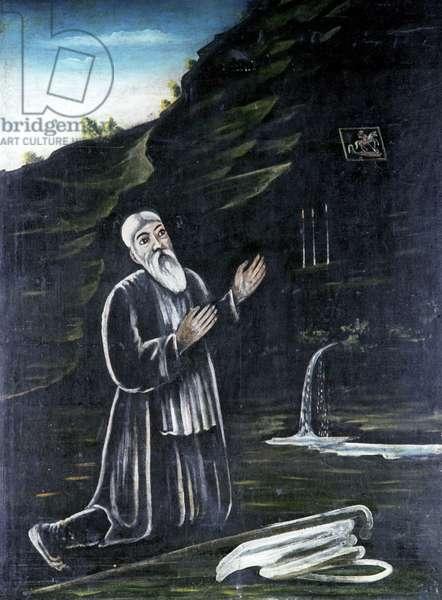 Hermit Georgy, 1895-1905 (oil on rubber sheet)
