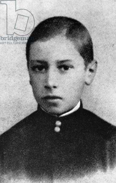 Igor Stravinsky, 1892 (b/w photo)