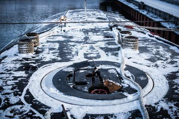 The deck of the K-535 Yuri Dolgoruky nuclear submarine, 2019 (photo)