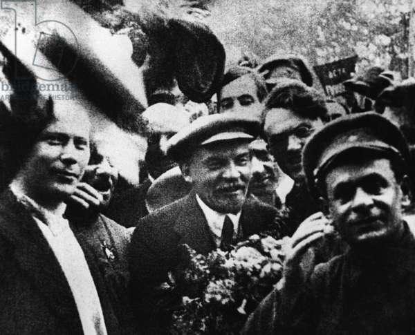 Vladimir Lenin at Second Congress of Comintern, 1920 (b/w photo)