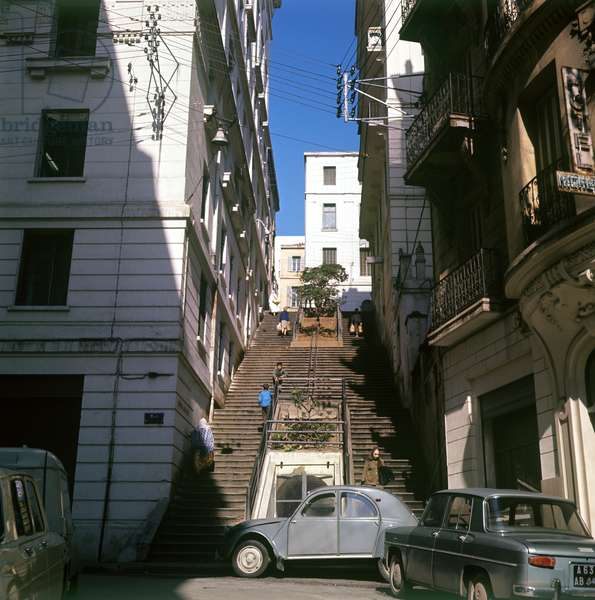 Houses in one of central streets of Algiers, 1968 (photo)
