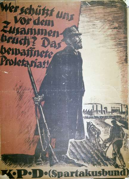 German Communist Party's Poster 'The Union of Spartacus'. Poster Was Issued In Germany In 1919./Sputnik (litho)