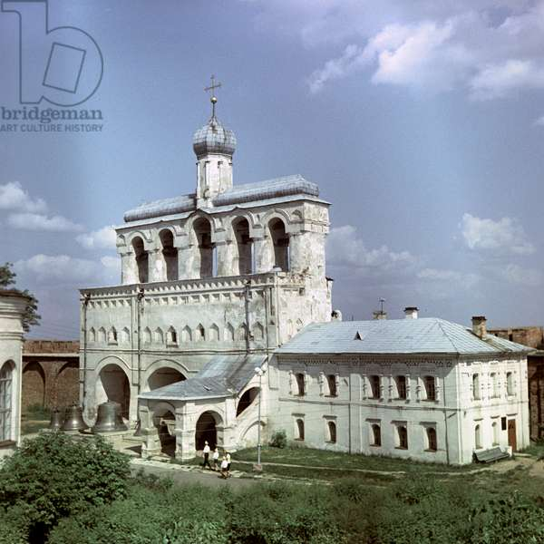 St Sophia's Cathedral belfry in Novgorod, Russia, 1966 (photo)