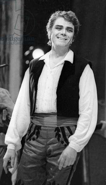 Yury Gulyaev in Rossini's 'The Barber of Seville', Bolshoi Opera, 1975 (b/w photo)