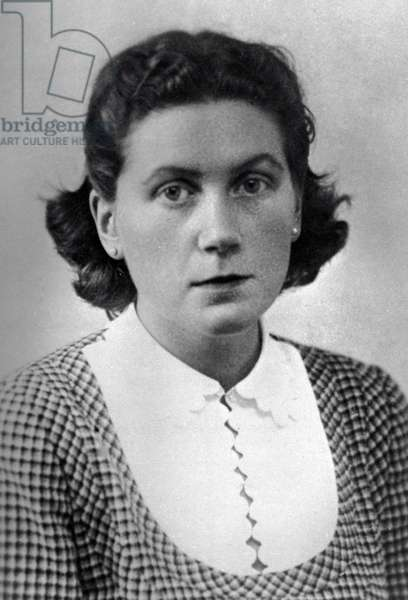 Svetlana Alliluyeva, the daughter of Josef Stalin, 1949 (b/w photo)