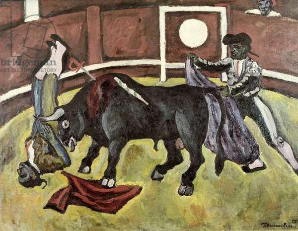 Bullfight, 1910 (oil on canvas)
