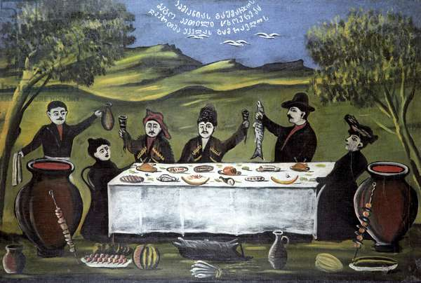 Bego Company (Family Picnic), 1907 (oil on rubber sheet)