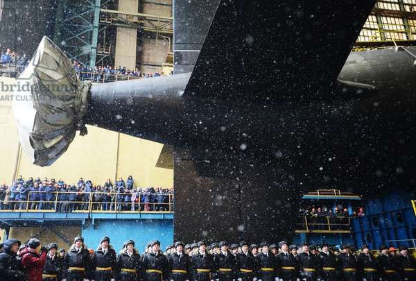 The ceremony to launch nuclear attack submarine Kazan of the Russian Navy in Severodvinsk, 2017 (photo)