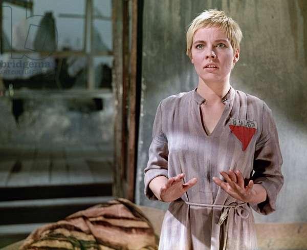 German actress Annekathrin Burger as Katrin Beier in Lev Arnshtam's film 'Five Days, Five Nights', 1960 (photo)