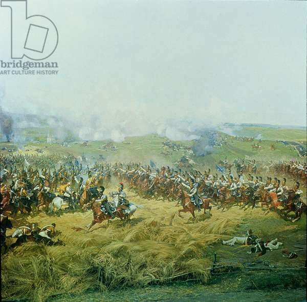 The Rayevsky Batter, detail from the Battle of Borodino in 1812 (colour litho) (see also 70979)