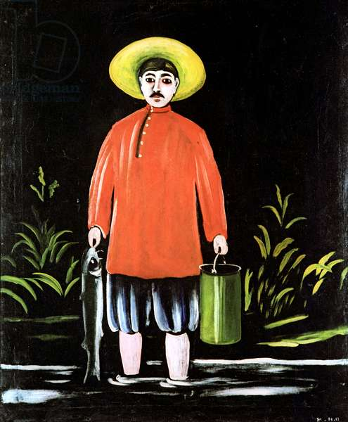 Young Fisherman, 1914 (oil on rubber sheet)