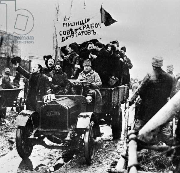 Militia unit, 1917 (b/w photo)