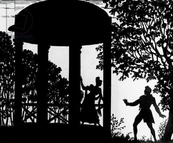 Illustration from 'Dubrovsky' by Alexander Pushkin (litho)