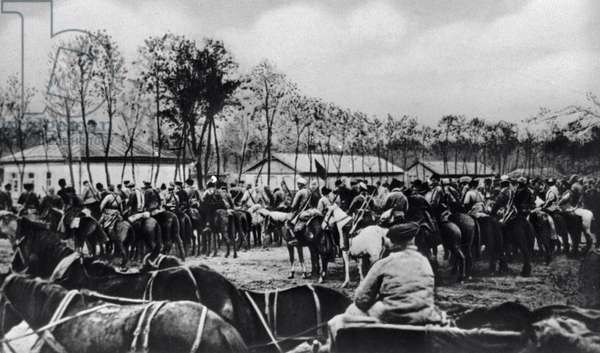 Cavalry Corps at Voronezh, 1919 (b/w photo)