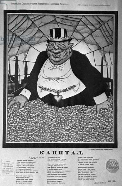 Viktor Deni's Poster 'Capital', Early Soviet Period. Evzerikhyn/Sputnik (litho)