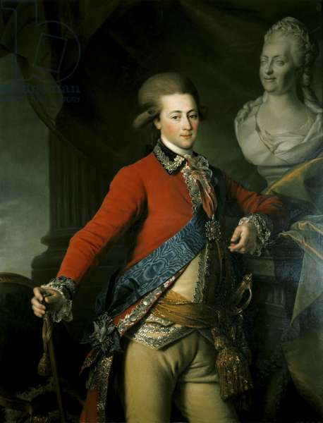 Portrait of Aide-de-Camp Alexander Lanskoy, 1782 (oil on canvas)