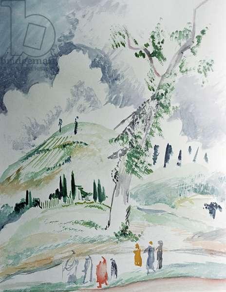 The Lysaya Mountain near Sochi, 1926 (oil on canvas)
