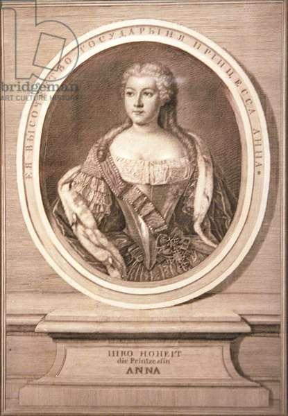 Anna Leopoldovna, 1739 (engraving)