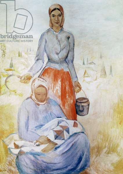 Peasant Women (oil on canvas)