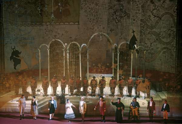 Scene from Act 2 of  'The Barber of Seville', by Gioachino Rossini, Bolshoi Theatre, 1970 (photo)