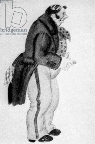 Zemlyanika, illustration from 'The Inspector-General' by Nikolai Gogol (litho)