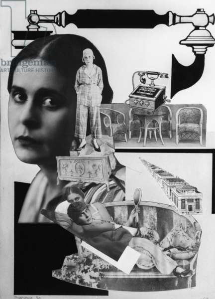 Photomontage For Vladimir Mayakovsky's Poem 'About This', 1923 (lithograph)