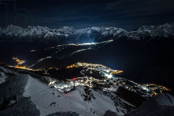 The Olympic Mountain Village, The Olympic pistes, the Rosa Khutor Alpine Center and the Rosa Khutor Extreme Park, Anton Denisov/Sputnik (photo)