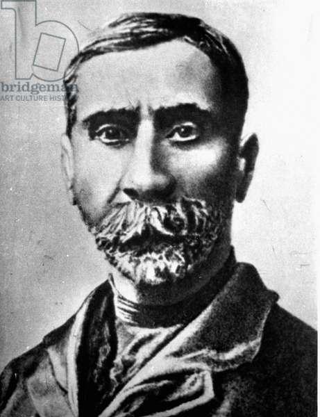 Renowned Georgian painter Niko Pirosmani (b/w photo)