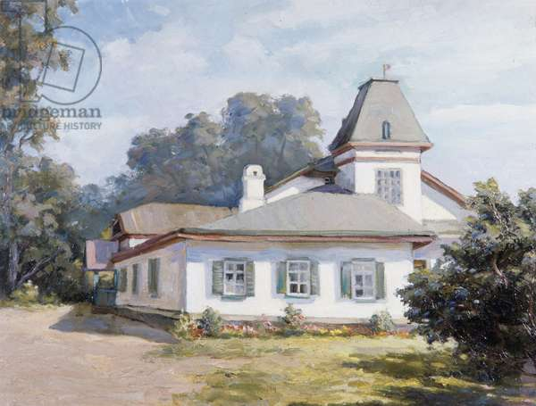 House in Kamenka, where Tchaikovsky spent his summers, as a child (oil on canvas)