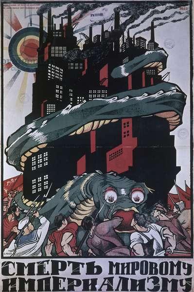 Dmitry Moor's Poster 'Death to World Imperialism.' Ria Novosti/Sputnik (litho)