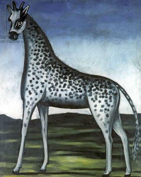 Giraffe, 1905 (oil on rubber sheet)