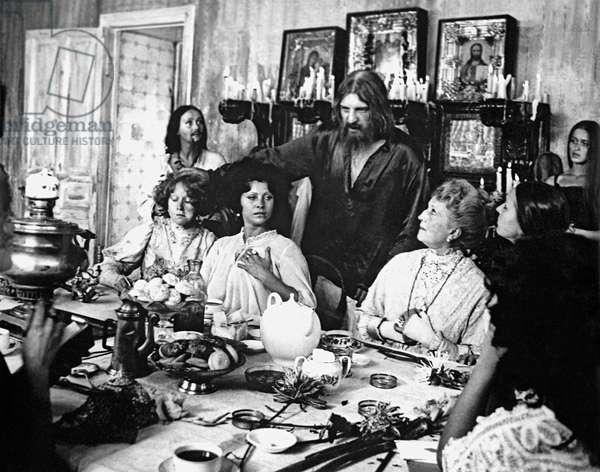 A still from the movie 'Agony', Aleksey Petrenko as Grigory Rasputin, Mosfilm studio, 1981 (b/w photo)