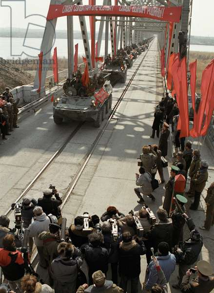 Last Soviet troop column crosses Soviet border after leaving Afghanistan, A, Solomonov/Sputnik (photo)