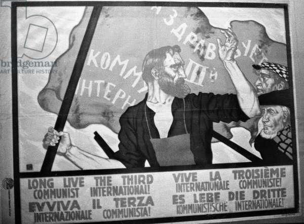 Poster 'Long Live the 3Rd Communist International' (litho)