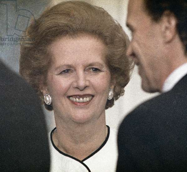 British Prime Minister Margaret Thatcher (1935-2013) 1989 (photo)