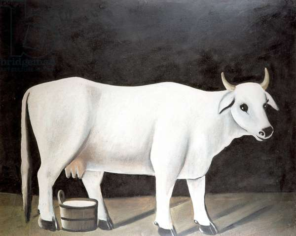 White Cow, 1916-18 (oil on cardboard)
